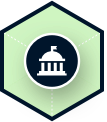 Icon government example on a dark background